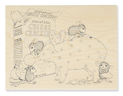 STAMPENDOUS House Mouse Wood Rubber Stamp, Bank Deposit