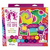 Tulip One-Step Tie-Dye Kit Tulip Two-Minute Kit, Fast & Easy Tie Dye, Fast Crafts, Party Supplies, 14 Bright Colors (Color: Fast Crafts, Party Supplies, 14 Bright Colors, Tamaño: 14 Color)