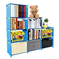 PENGKE 9 Cubes for Kid Bookshelf and Clothes Storage Organizer