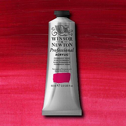 Winsor & Newton Professional Acrylic Color Paint, 60ml Tube, Permanent Rose