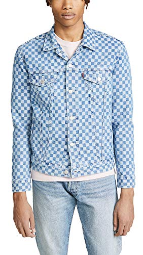 Levis Red Tab Men's Check Denim Jacket, Checkmate, Medium