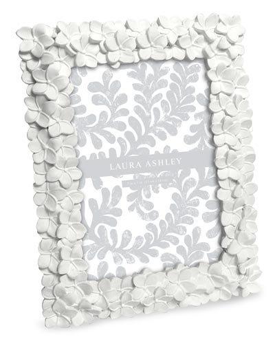 Laura Ashley Flower Resin Picture Frame (5x7, (White Resin Frames)