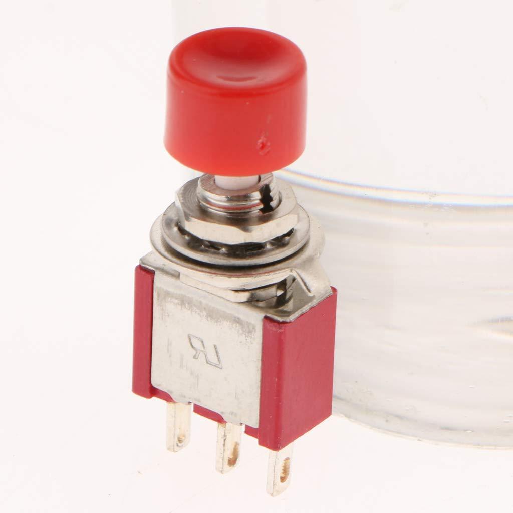 3 Pedazos Interruptor de Palanca de Bot/ón Pulsador C-NO-NC