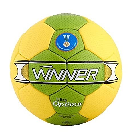 Winner Handball Profi Optima - Pelota de Balonmano, Color Amarillo ...