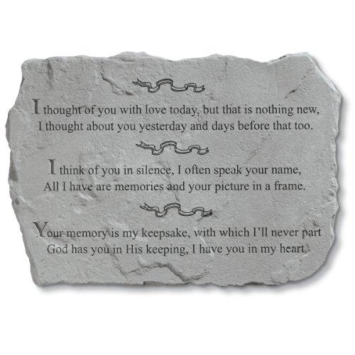 Design Toscano I Thought of You Cast Stone Pet Memorial S...