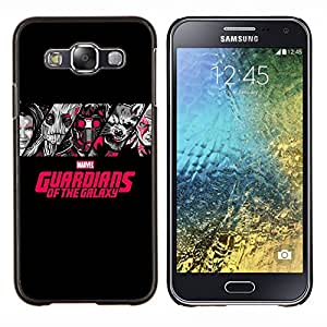Caucho caso de Shell duro de la cubierta de accesorios de protección BY RAYDREAMMM - Samsung Galaxy E5 E500 - Galaxy Guardianes
