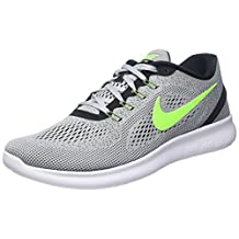 Nike Men's Free Rn Pure Platinum/Elctrc Grn/Anthracite Running Shoe 10 Men US
