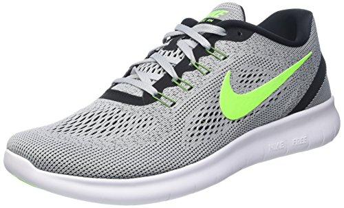Nike Men's Free RN Distance, BLACK/PURE PLATINUM-JADE GLAZE-HST 10.5