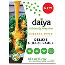 Daiya Cheddar Style Cheeze Sauce :: Plant-Based Macaroni & Cheese Sauce :: Vegan, Dairy Free, Gluten Free, Soy Free, Rich Cheesy Flavor :: Box Contains 3 Packets (2 Servings Each)