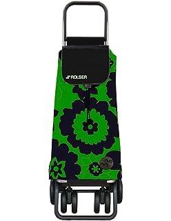 Carro Rolser Pack Flor 4 Ruedas Plegable Fucsia//Negro