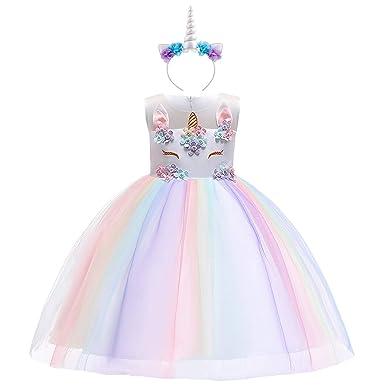 Costumi Carnevale Abbigliamento Halloween Ragazze Unicorno