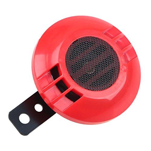 POSSBAY 12V Electric Horn 110db 430Hz Speaker Waterproof Universal for Motorcycle Car Bike Boat ()