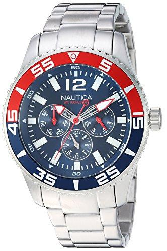 Nautica Men's 'WHITE CAP' Quartz Stainless Steel Casual Watch, Color:Blue (Model: NAPWHC002)