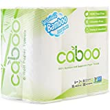 Caboo Tree Free Bamboo Paper Towels, 6 Rolls, Earth Friendly Biodegradable Kitchen Paper Towels with Strong 2 Ply Sheets