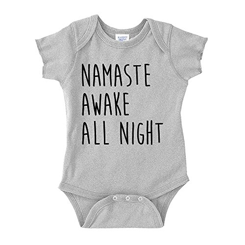 Namaste Awake All Night Baby One Piece NB Athletic ()