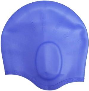 Calunce Waterproof Swim Caps Friendly Silicone Long Hair Swimming Cap