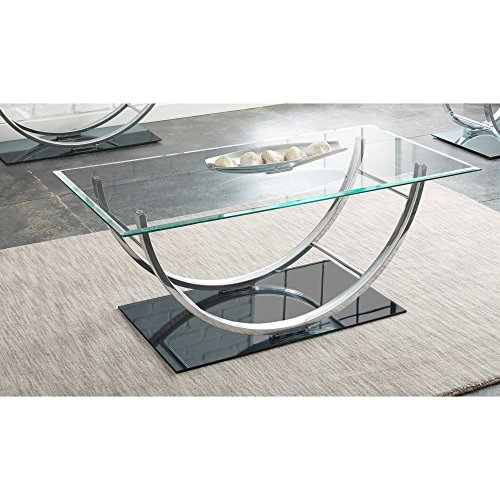 Johannesburg Coffee Table Modern Features: Rectangular Coffee Table With Metal Frames In Dark Bronze