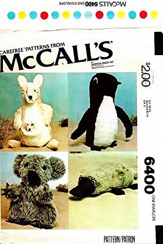 Amazon.com: McCall\'s 6400 Vintage Crafts Sewing Pattern Kangaroo ...