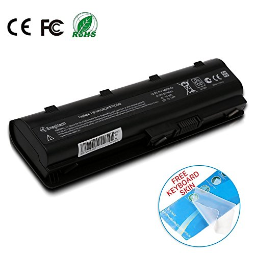 Enegitech HP Laptop Battery Replacement for 593553-001 593554-001 MU06 MU09 G32 G42 G42T G56 G62 G72 G4 G6 G6T G7 Compaq Presario CQ32 CQ42 CQ43 CQ430 CQ56 CQ62 CQ72 DM4 DV3 DV5, 10.8V 4400mAh Compaq Laptop Battery Replacement