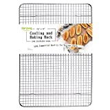 Stainless Steel Wire Cooling Rack, Cookie Cooling Rack, Baking Rack, Grid Design, Size 12' x 17' Dishwasher Safe Wire Rack. Fits Half Sheet Cookie Pan Oven Safe Rack