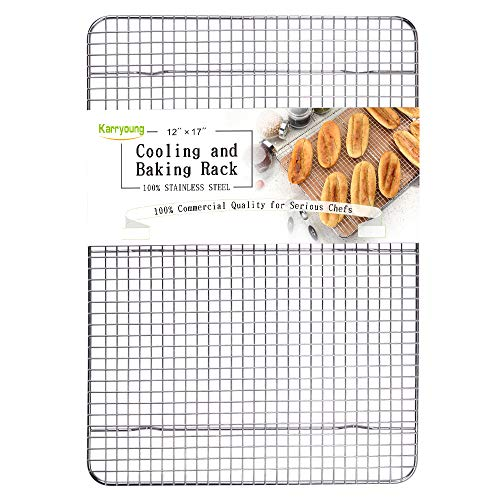 - Stainless Steel Wire Cooling Rack, Cookie Cooling Rack, Baking Rack, Grid Design, Size 12