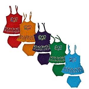 Sathiyas Baby Girls' Dress (asvTK250_Multicolored_0-3...