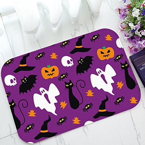 Custom Funny Hallowen Time Ghost Pumpkin Halloween Home floor mat Fashion Home Decorative Rug Non-Slip Indoor/Outdoor Doormat Size 23.615.7inches (40x60cm) -