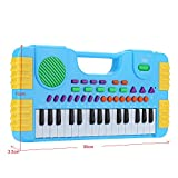 electone - Multifunction 31 Keys Mini Electronic Keyboard Music Toy Educational Cartoon Electone Piano Toy Gift for Children Kids Beginners