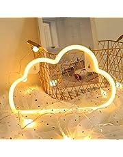 USB opladen/batterij neon decoratieve verlichting, LYGZTing led veiligheid neon teken, kunst muur decoratieve verlichting, neon borden licht voor kerst verjaardagsfeestje, kinderkamer, woonkamer (bliksemblauw)