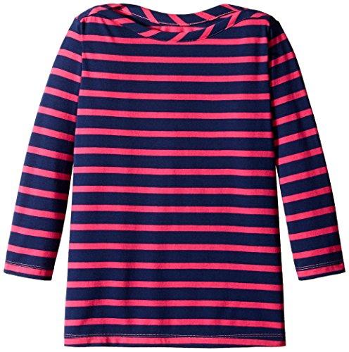 Three Quarter Sleeve Boatneck Top (Scout + Ro Big Girls' Striped Three-Quarter Sleeve Boat-Neck Tunic Top, Lollipop, 7)