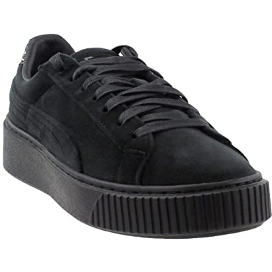 PUMA Women s Suede Platform Crushed GEM Running Shoes Black  Puma ... 598f7ea5a