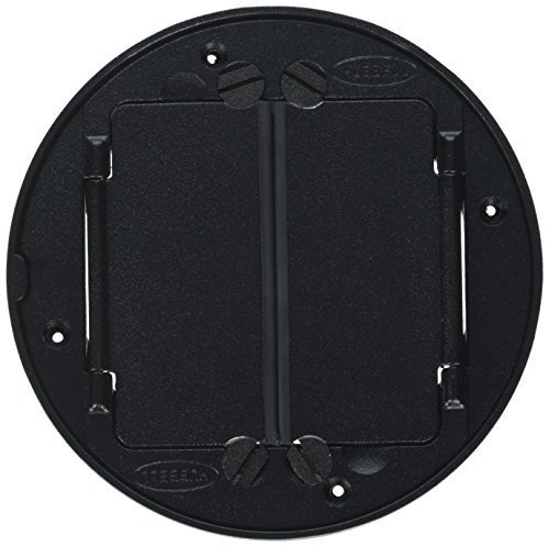 Hubbell Wiring Systems S1TFCBL Cast Aluminum System One Universal Tile Cover, 5-5/8'' Diameter, Black by Hubbell Wiring Systems