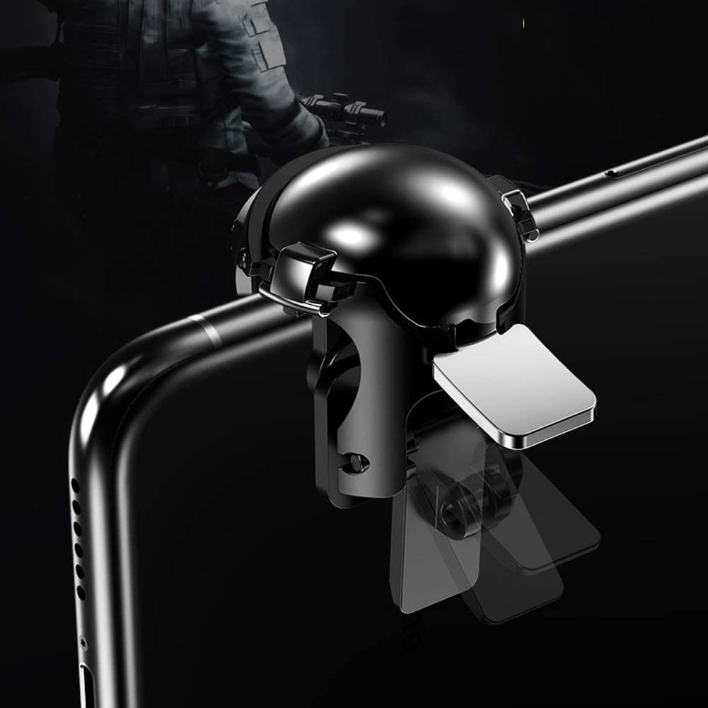 Cell Phone Game Triggers Sensitive Aim Keys,Use Four Fingers to Control Compatible with FPS and TPS Games Third-Level Helmet Accessories Key Chain GXSLKWL Simple Mobile Game Controller