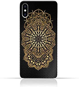 AMC Design Vintage Mandala 1301 Printed Case for iPhone X - Black & Yellow