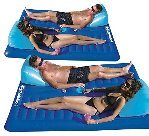 Solstice Face To Face Swimming Pool Float, 2-Pack (Lounger Pool Double)