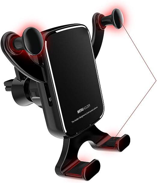 ZXPWL Soporte Movil Coche Ventilación 360 Grados Rotación Porta Movil Coche para GPS Xiaomi Mi 9 Mi 8 Redmi Note 7 iPhone XR XS MAX X 8 7 6 Samsung S10 S9 Huawei P20 Black: Amazon.es: Hogar