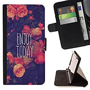 Jordan Colourful Shop -Enjoy Today -- Leather Case Absorciš®n cubierta de la caja de alto impacto FOR Samsung Galaxy S4 Mini i9190 I9192 ---