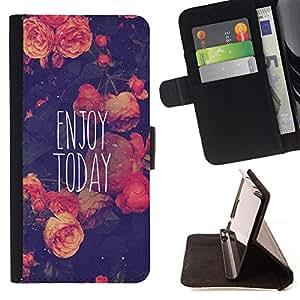 Jordan Colourful Shop -Enjoy Today -- Leather Case Absorciš®n cubierta de la caja de alto impacto FOR Sony Xperia Z3 D6653 ---