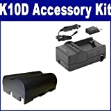 Pentax K10D Digital Camera Accessory Kit includes: SDNP400 Battery, SDM-138 Charger, Best Gadgets