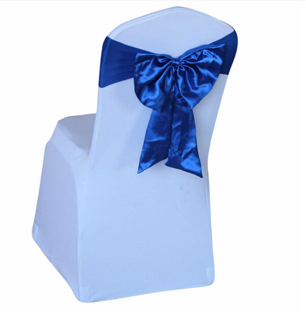 10個Tied結婚式椅子装飾ストレッチサテンリボン、ロイヤルブルー   B01AFK6QHA