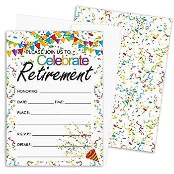 Amazon.com: Invitaciones para fiesta de jubilación: 10 ...