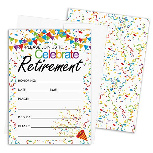 (Retirement Party Invitations | 10 Cards with Envelopes)