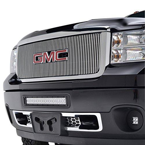 EAG 11-14 GMC Sierra 2500HD/3500HD Billet Grille Overlay Aluminum Polished 8mm (Vertical Overlay Billet Grille)
