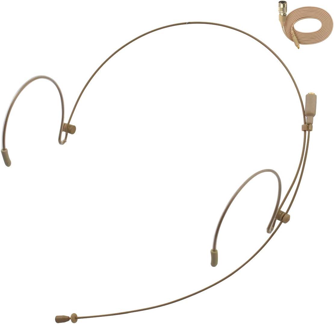 Auriculares profesionales con gancho para la oreja JK MIC-J 071S compatible con transmisores inalámbricos Audio Technica - Hirose 4 pines extraíble