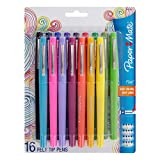 Paper Mate Flair Felt Tip Pens, Medium Point (0.7mm), Assorted Colors, 16 Count