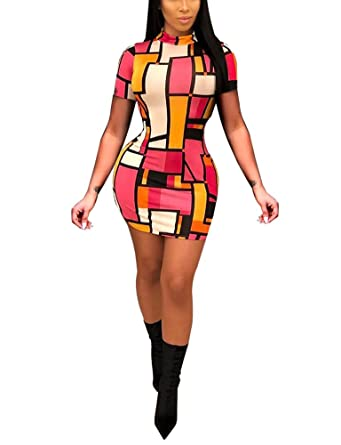 04e29d676d Dreamparis Bodycon Dresses for Women - Sexy Short Sleeve Package Hip Bandage  Mini Dress at Amazon Women s Clothing store