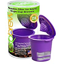 Ekobrew Classic Plastic Refillable, Reusable K-Cup Filter for Ekobrew and Keurig 2.0 and 1.0 Brewers, Purple