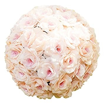 Amazon Linentablecloth Silk Flower Ball 12 Peach Home Kitchen
