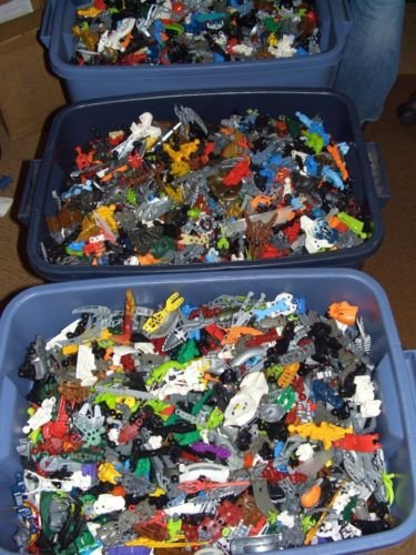 **1 lb LEGO Bionicle & Hero Factory Parts & Pieces Large Bulk Pound Lot ()