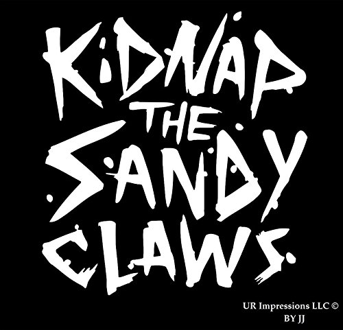 UR Impressions Kidnap The Sandy Claws Decal Vinyl Sticker Graphics for Cars Trucks SUV Vans Walls Windows Laptop Tablet|White|5.5 inch|JJURI044 ()